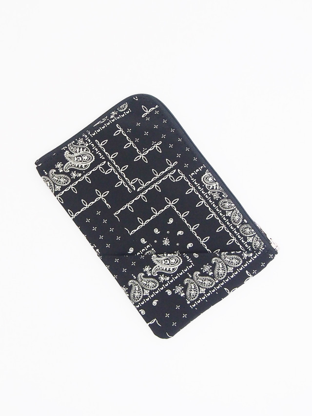 RESOUND CLOTHING (リサウンドクロージング) WEST COAST BANDANA POUCH / BLACK RC17-BAG-004-1