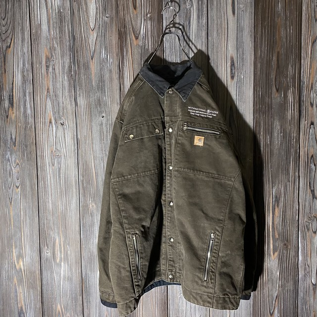 [Carhartt]embroidery brown duck  jacket