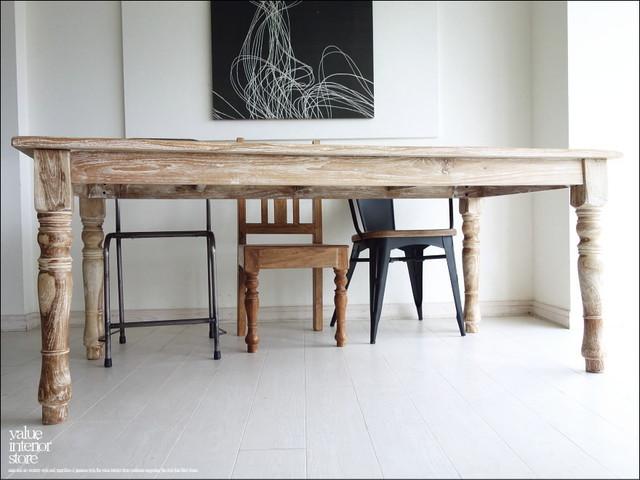 オールドチークダイニングテーブルWW 食卓テーブル 机 デスク 手作り 天然木 木製 ナチュラル 和 銘木家具 総無垢材 幅180cm×奥90cm