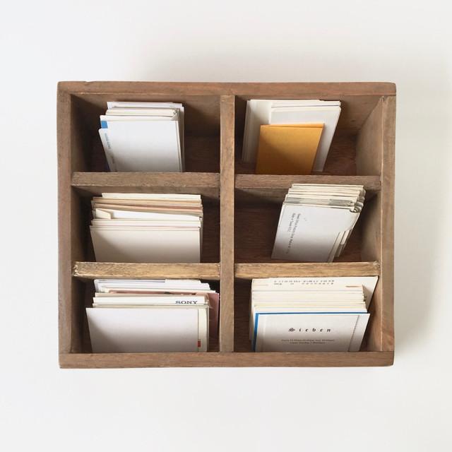 木製の仕切り収納ボックス|Wooden Dividing Box
