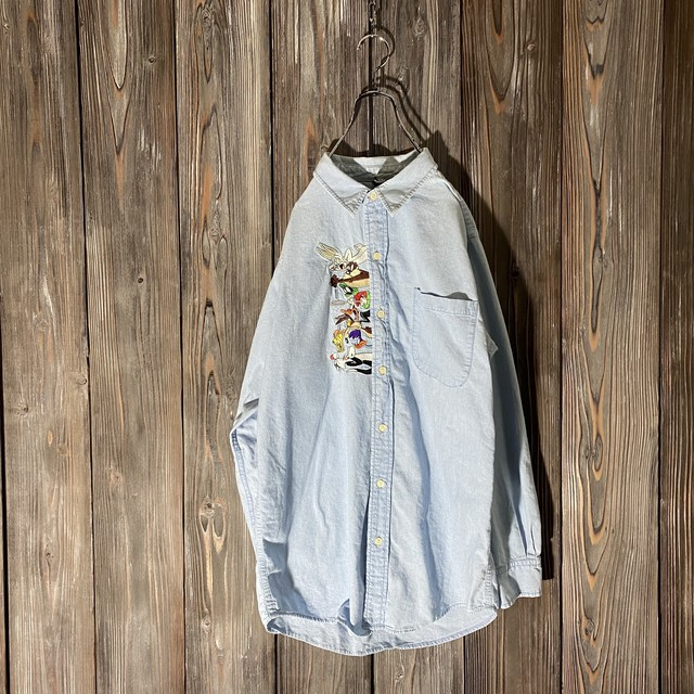 [used]WB characters embroidery shirt