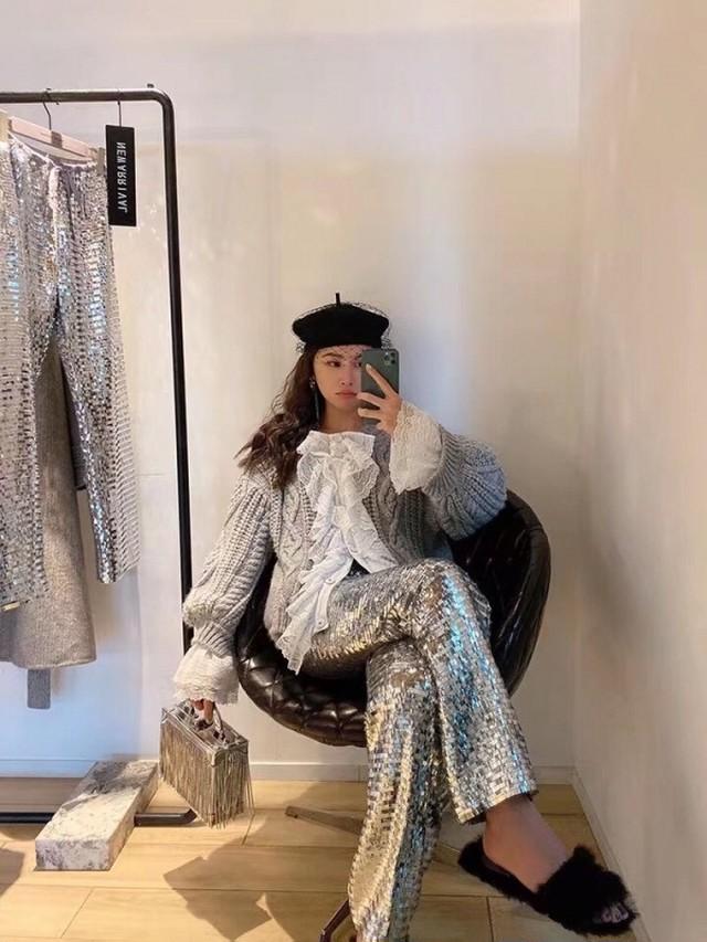 レオパードハラコカーディガン レオパード カーディガン ハラコ 韓国ファッション