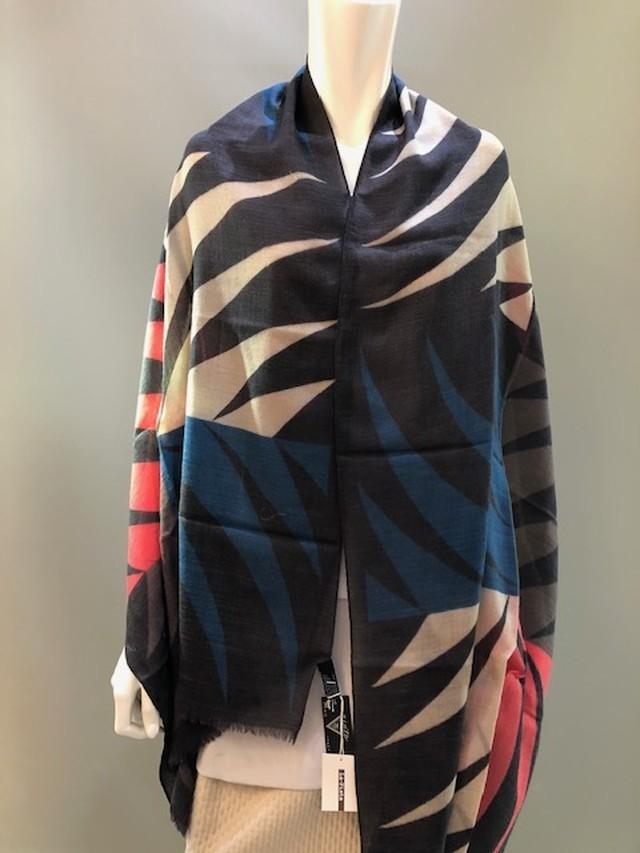 AchillePinto イタリア製 ウールプリントスカーフ 3742W/29910
