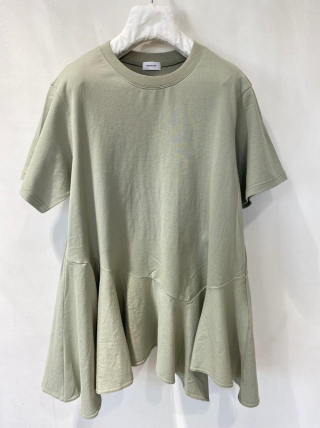 【REKISAMI】《21SS》コットンアシンメトリーヘムフレアTシャツ RT21007