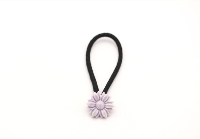 有田焼 ヘアゴム  daisy 薄紫(金彩なし)