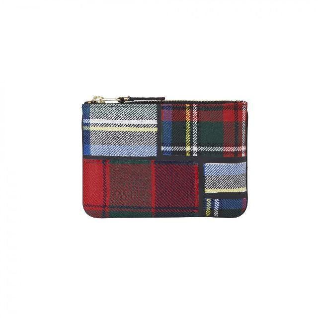 WALLET COMME des GARCONS【ウォレットコムデギャルソン】Tartan Patchwork POUCH (RED)