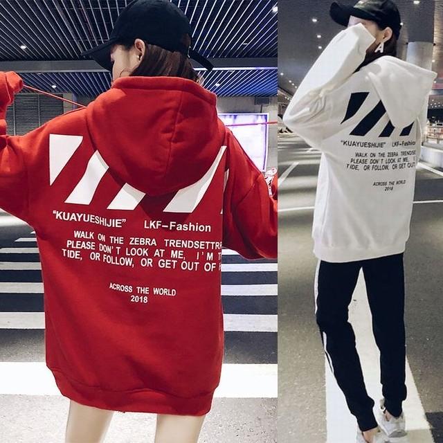 プルオーバー パーカー 韓国 ファッション レディース ビッグパーカー オーバーサイズ 薄い ゆったり 大きめ バックプリント ストリートファッション / Special one couple in super fire sweater (DTC-606172379978)