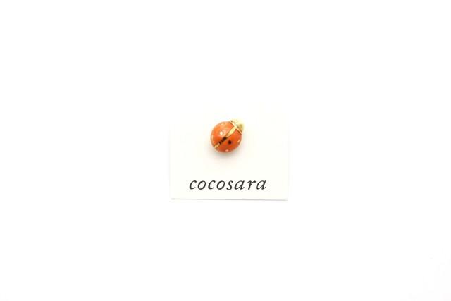 有田焼ピンバッジ てんとう虫(オレンジ)