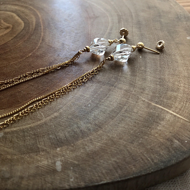【New】Crystal~Long chain~/14K GF