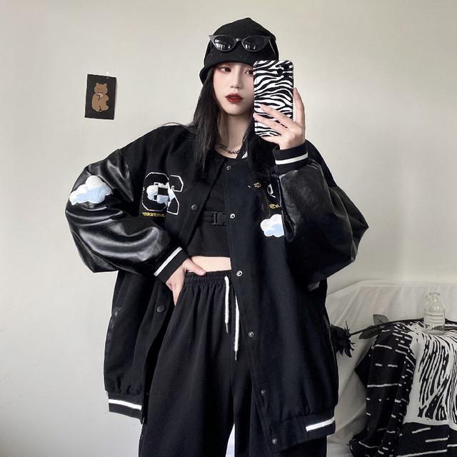 【アウター】流行り韓国系スタンドネック長袖切り替えシングルブレストジャケット41248705
