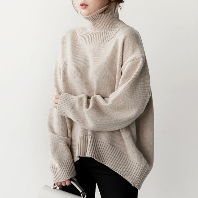 【tops】大活躍女の子の可愛らしさハイネックセーター 24535231