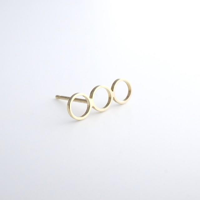 adachiyukari. / ピアス ele e/P-3.0 gold