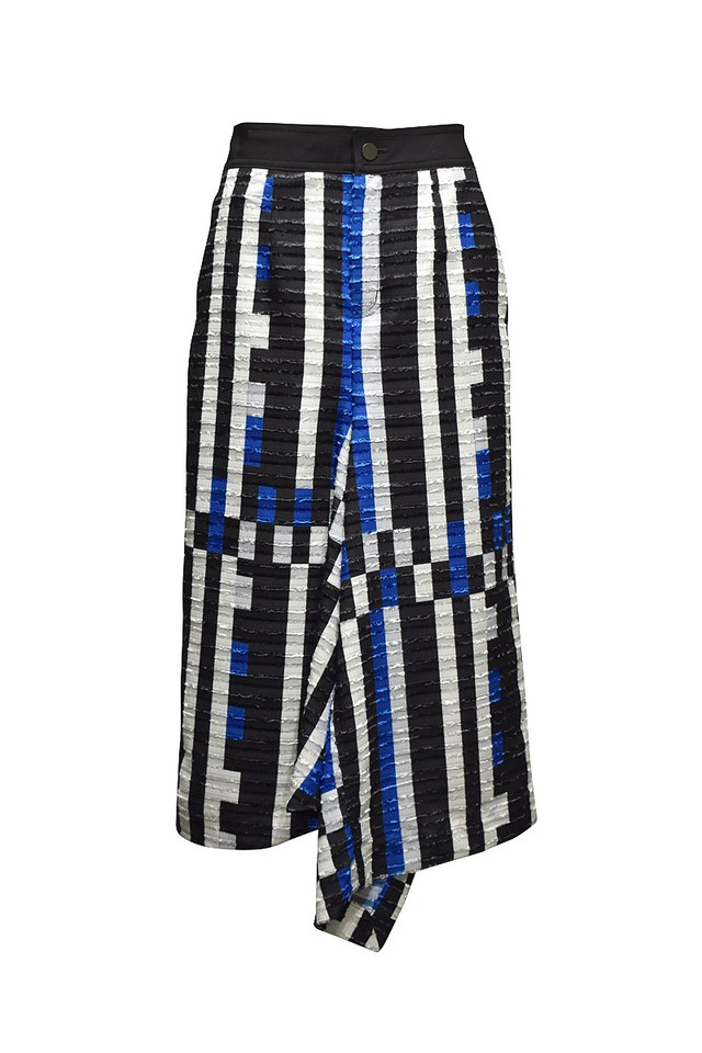 tactor / DRAPED SKIRT / Blue