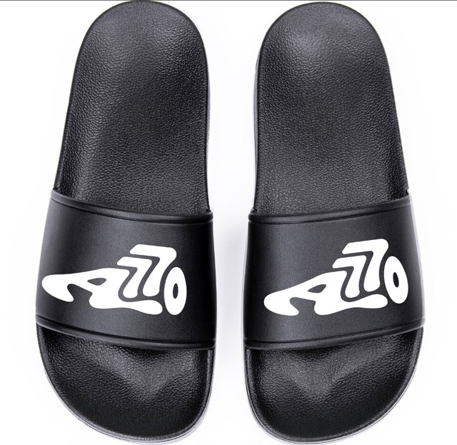 Logo Shower Sandals / black