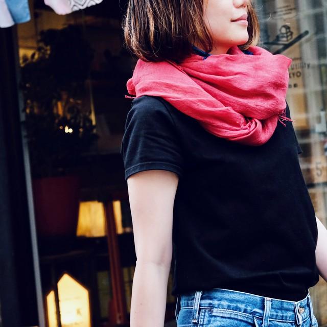 Dou de Ville & Brass 草木染ストール/紅、紫紺