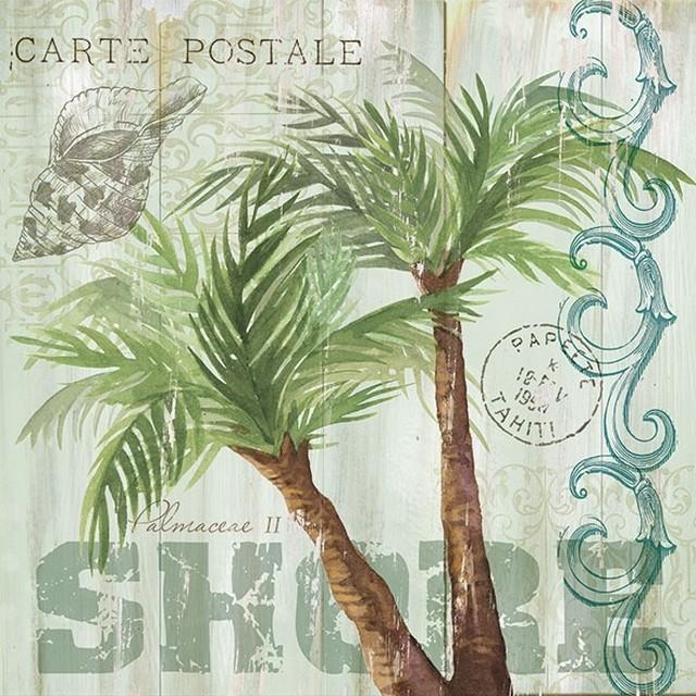【Ambiente】バラ売り2枚 ランチサイズ ペーパーナプキン Palm Trees ターコイズ