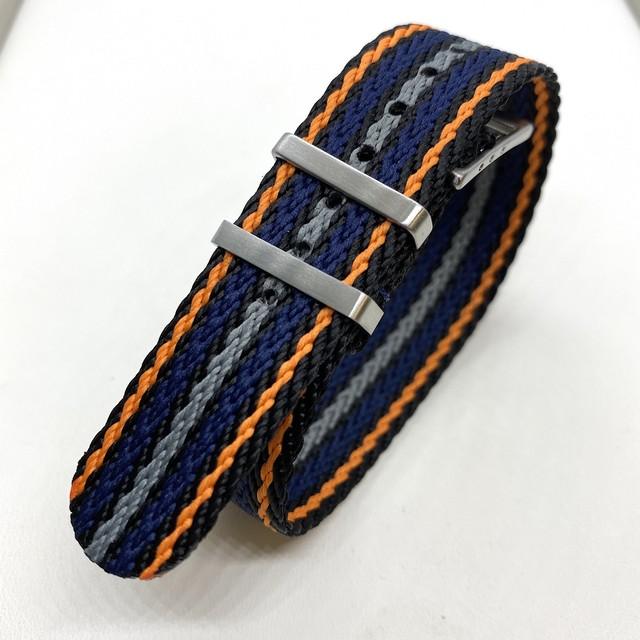 シャーク・トゥース  シングルパス ストラップ ビッグ・ブルー 20mm 腕時計ベルト