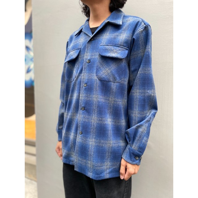 PENDLETON BOARD SHIRT BLUE/GREY OMBRE