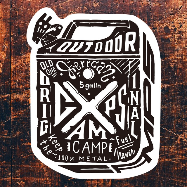 CAMPS STICKER ジェリカン