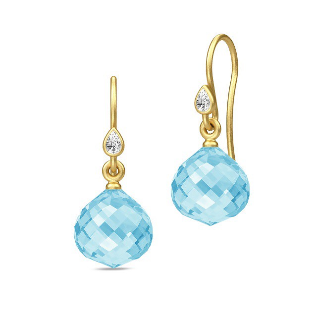 JULIE SANDLAU JOY EARRING SKY BLUE CRYSTAL