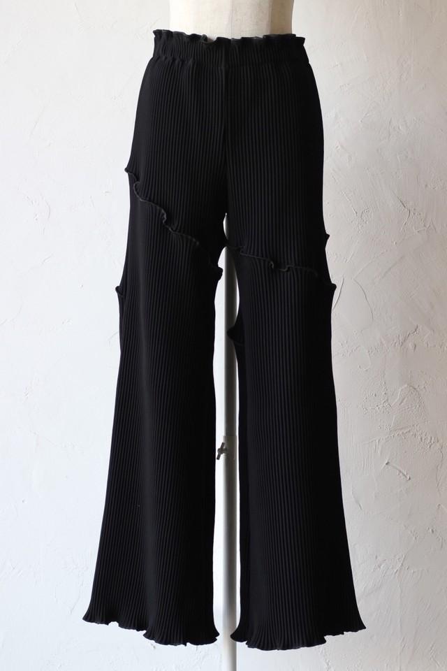 【kotohayokozawa】pleats pants-black