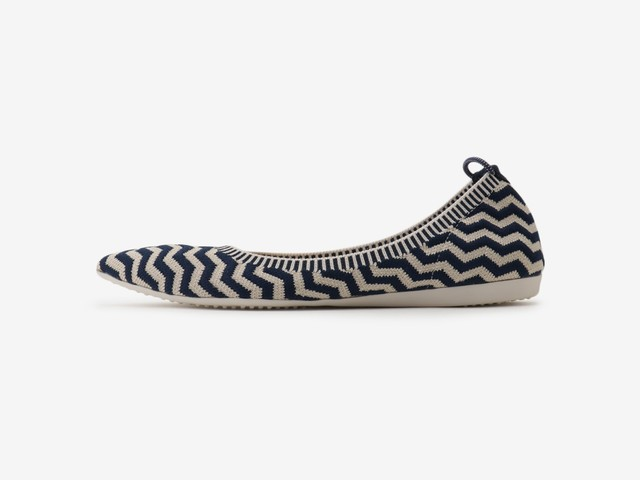 tribal stripe pattern / NAVY & BEIGE