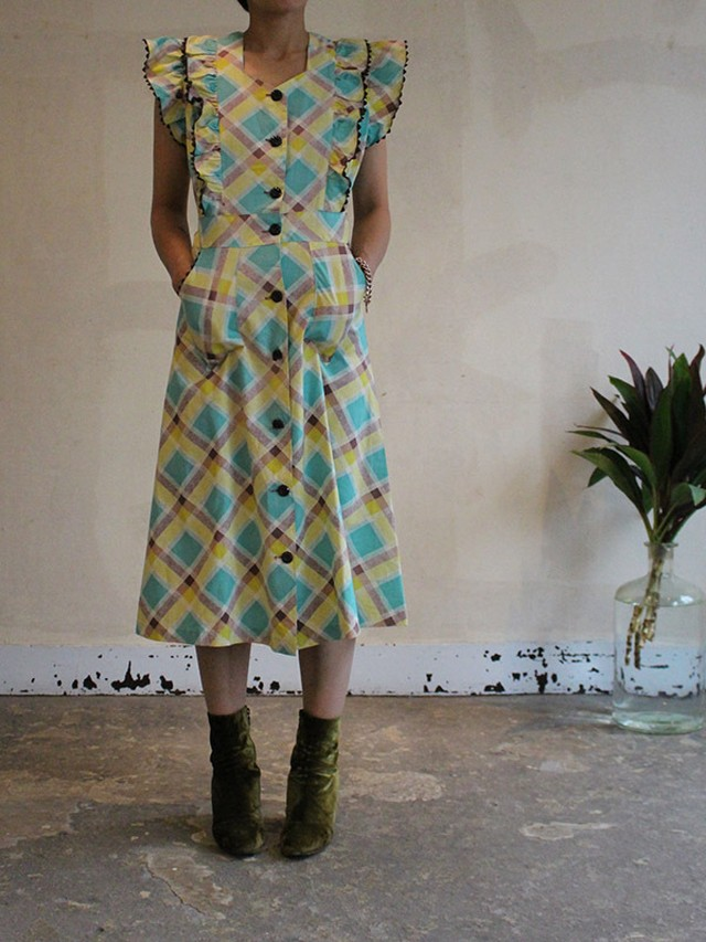 40s cotton dress