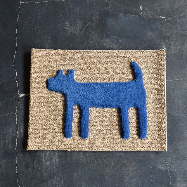 "F/style DOGGY MAT ""HOUSE"" 玄関マット/犬用マット BLUE"