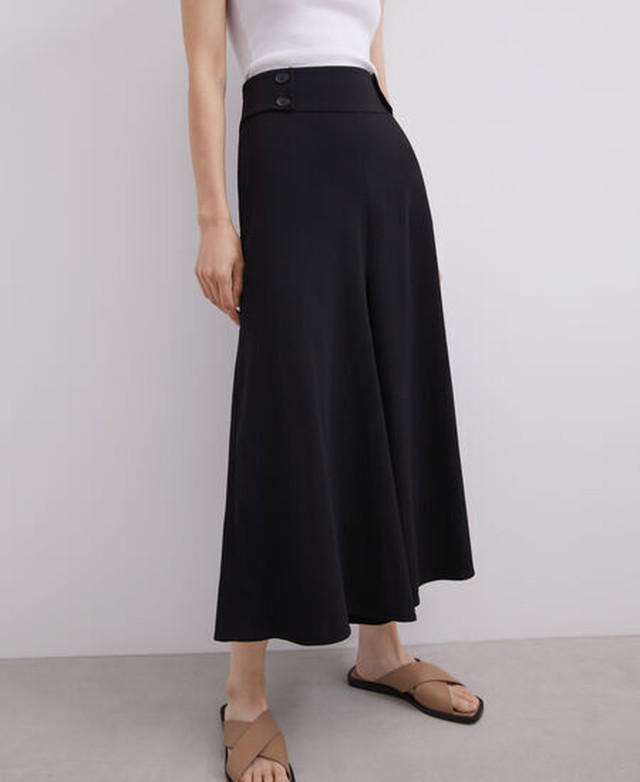 WIDE TROUSERS WITH BUTTON DETAIL [268031457111]