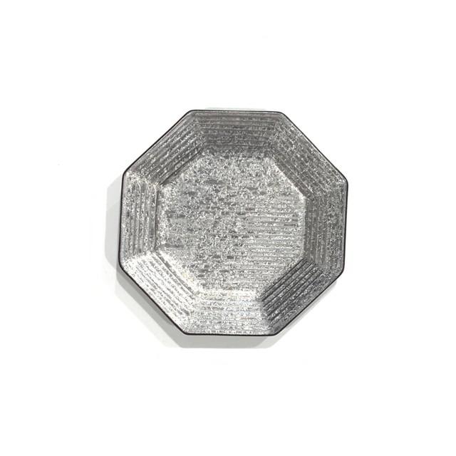 銀塗  八角小皿