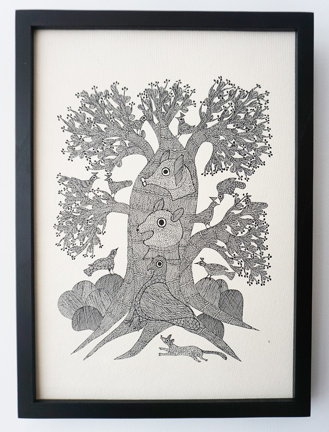 The Night Life of TREES 版画「THE TREE OF INTOXICATION」