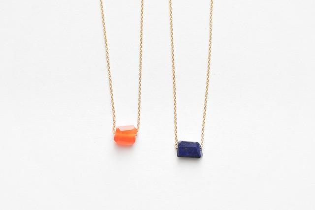 contemporary cut stone necklace