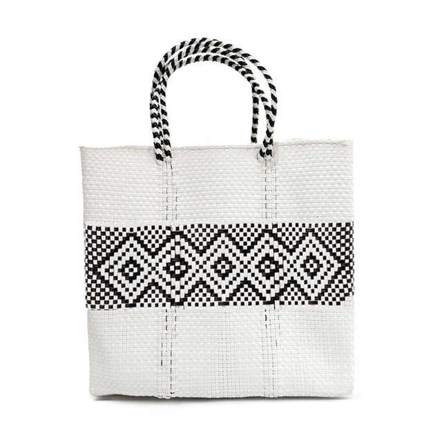 MERCADO BAG DIAMOND LINE-White (M)