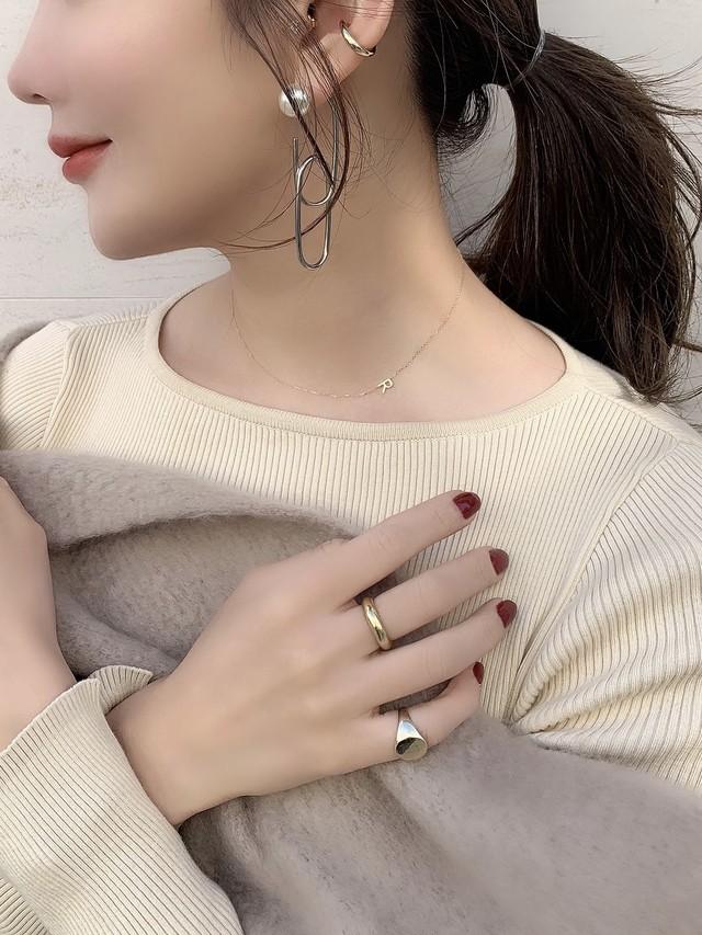【予約】initial「R」skin jewelry necklace K10YG / yellow gold (12月下旬発送予定)