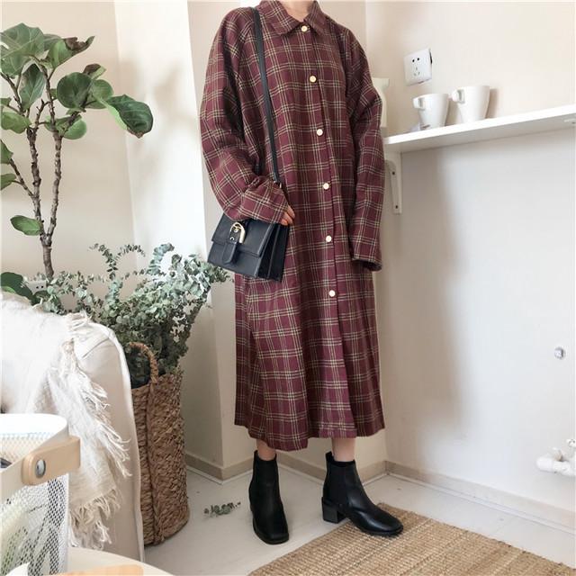 【dress】カジュアルワンピース無地合わせやすい着心地良いドレス