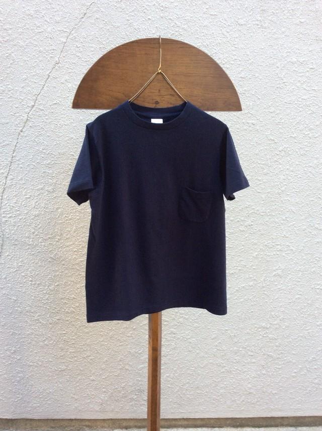 YAECA  Tシャツポケット付き #170207、NAVY、M