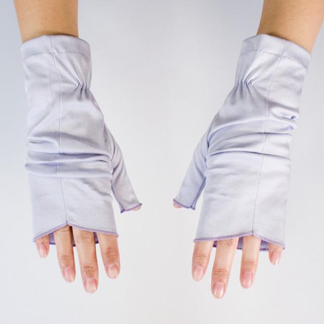 【ハンドソックス】ラベンダー(薄紫)/さりげなくウイルス対策できるUVケア手袋/サッと伸ばして手先まで日差しから守る