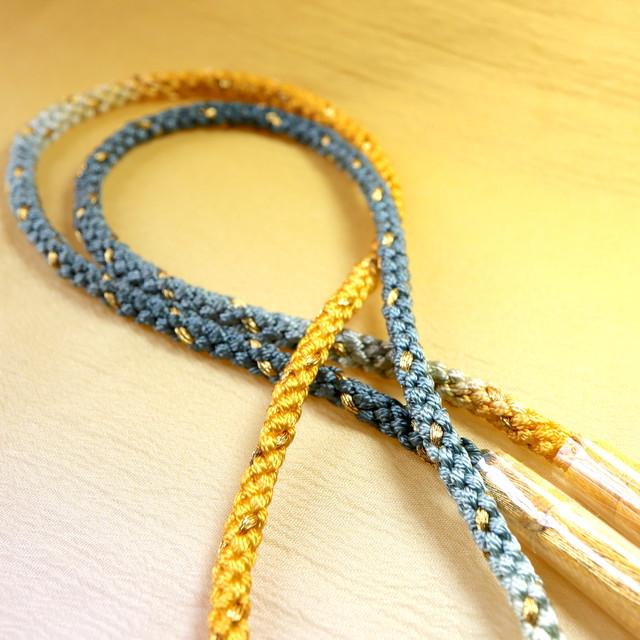 【組紐】カラシ色グラデーション 房付き飾り紐