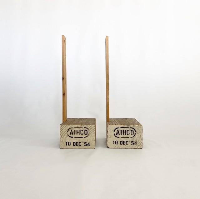 木のオブジェ wooden object
