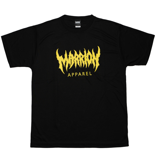 【DRY】MARRION APPAREL LOGO DRY T-shirts (Black×Yellow)