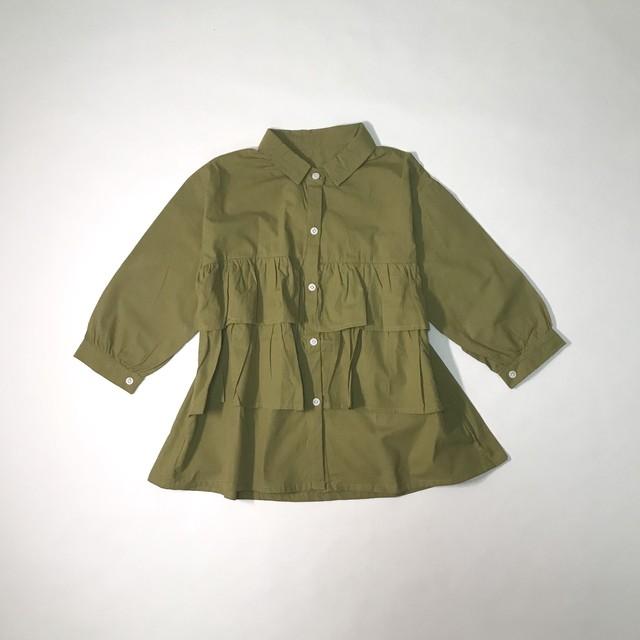 ティアードロングシャツ【T111】