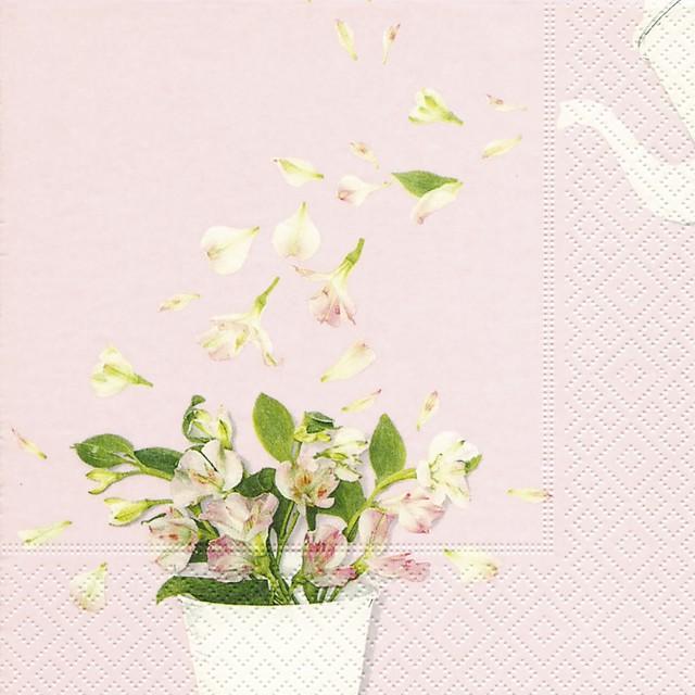 入荷しました|新入荷【Paper+Design】バラ売り2枚 ランチサイズ ペーパーナプキン Flower shower ピンク