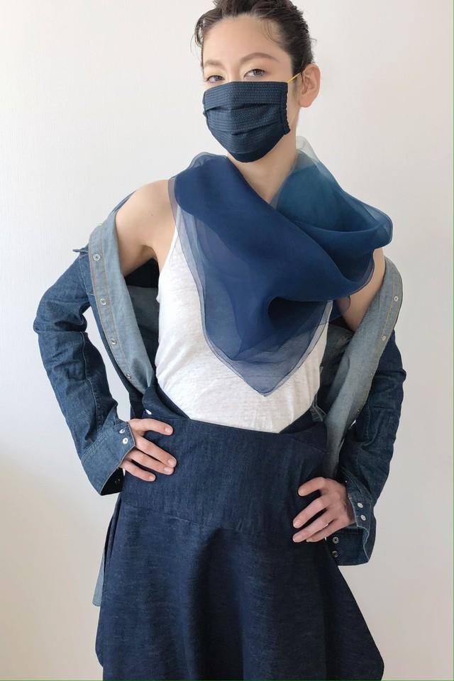 山繭_三重織|宇宙色・高級絹マスクM