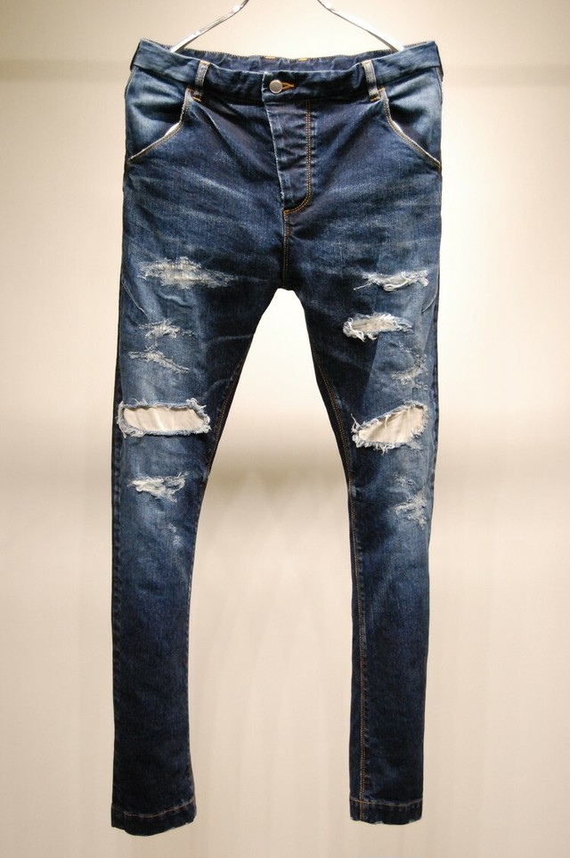 RW-108 CRASH DENIM INDIGO