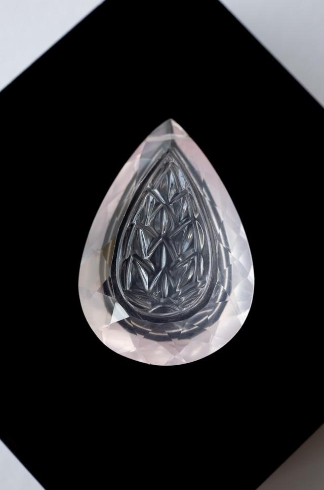Carving Rose Quartz