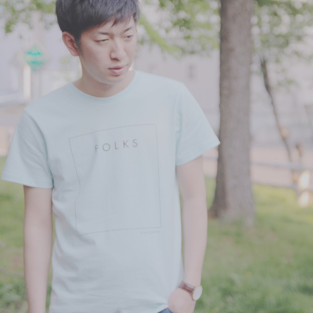 FOLKS ORIGINAL T light blue - メイン画像