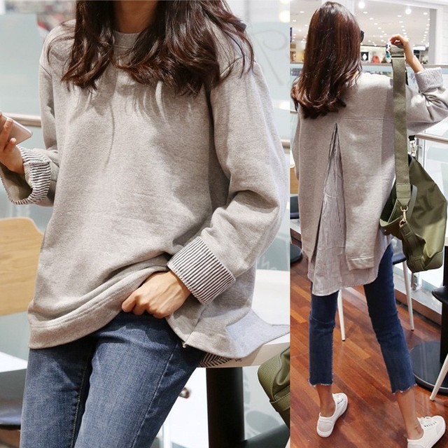 【tops】Female autumn version of the slim t-shirt