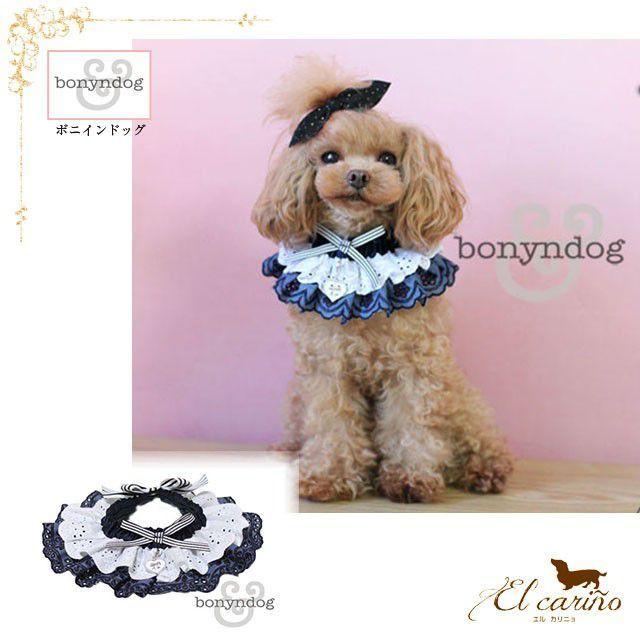 7。Bonyndog【正規輸入】犬 服 チョーカー ネイビー レース 春 夏 秋 冬