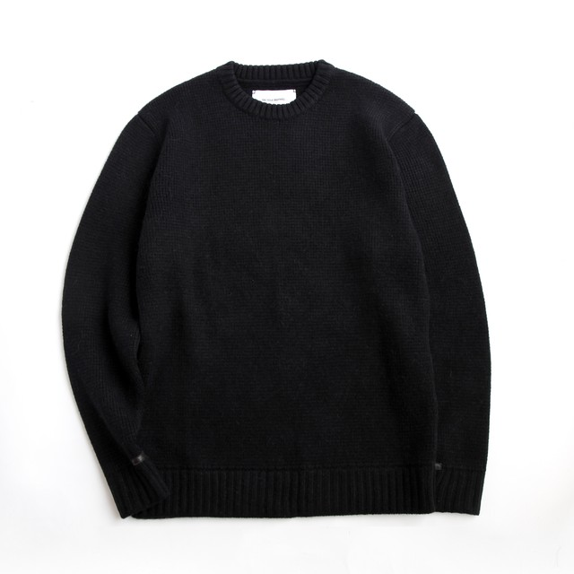 THE INOUE BROTHERS/Crew Neck  Raglan Sweater/Black