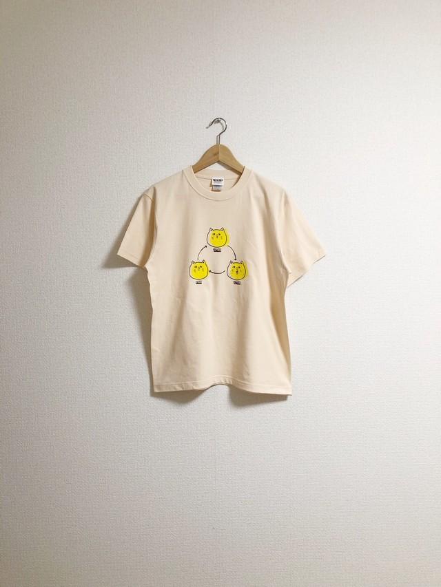 つるねこひげねこTシャツ